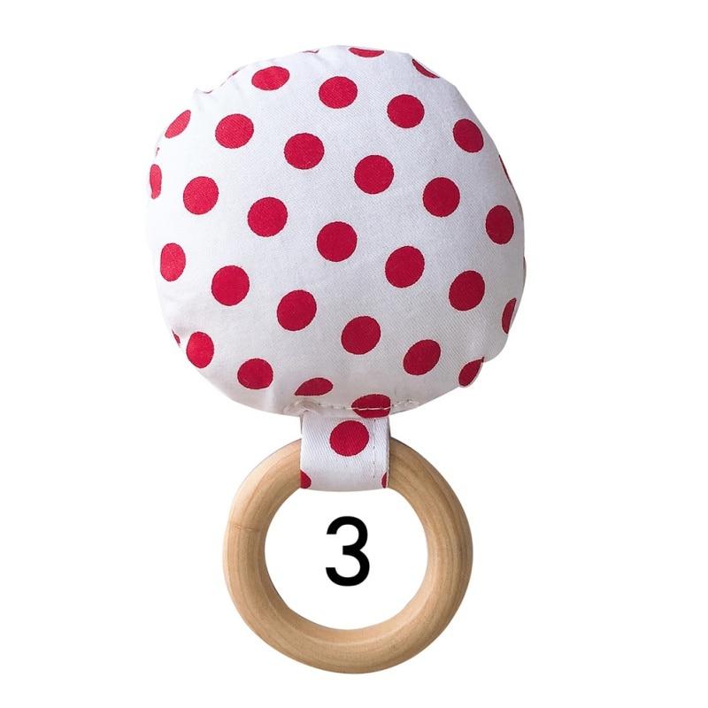 Новорожденный ребенок прорезыватель кольцо Жевательная Прорезыватель портативный ручной безопасная, из дерева натуральное кольцо детские зубы упражняющая игрушка подарок - Цвет: C