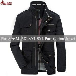 Image 5 - Novo 100% jaquetas de algodão dos homens jaquetas carga militar tático combate negócios masculino casaco piloto bombardeiro jaquetas roupas marca