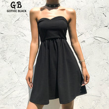 Gothbalck Sexy Backless Lace Up Dress Women Sleeveless Strapless Bodycon Solid Color Pleated Dresses Female Slim Party Dress цена 2017