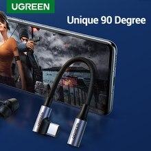 UGREEN 90 degrés de jeu USB C à 3.5mm câble USB C 3.5 Jack câble Aux pour Huawei P40 Pro Type c 3.5 MM Audio adaptateur casque