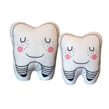 2x мягкая плюшевая с наполнителем в форме зуба подушечка диванная подушка ребенок играть маленький