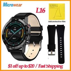 Подарок, оригинальные Смарт-часы Microwear L16, IP68, ЭКГ, пульсометр, кровяное давление, фитнес-часы, 360*360, будильник, VS L13, умные часы для мужчин