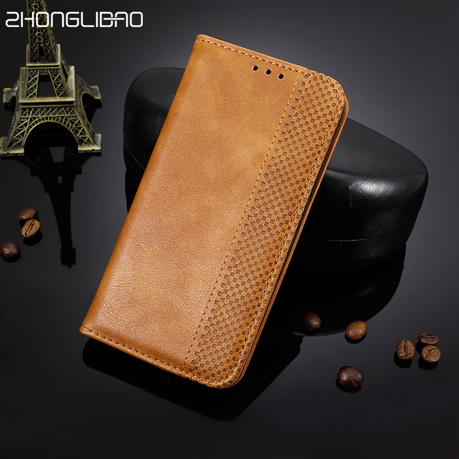 Leather <font><b>Flip</b></font> <font><b>Case</b></font> for <font><b>Oneplus</b></font> 7 Pro 6 6T 5 5T 3 <font><b>3T</b></font> Luxury Magnetic Card Slots Wallet Book Cover for One Plus 7 Pro Oneplus7 Euti image