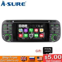 цена на A-Sure 4.3 Inch Android Car Auto Radio DVD Stereo GPS Navigation For Jeep Grand Cherokee Wrangler Sebring 2002-2006 16G ROM OBD