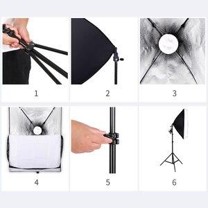 Image 4 - Fotografia softbox kit de iluminação com 2.6x3m suporte de fundo 3 pçs foto backdrops tripé guarda chuva para estúdio foto