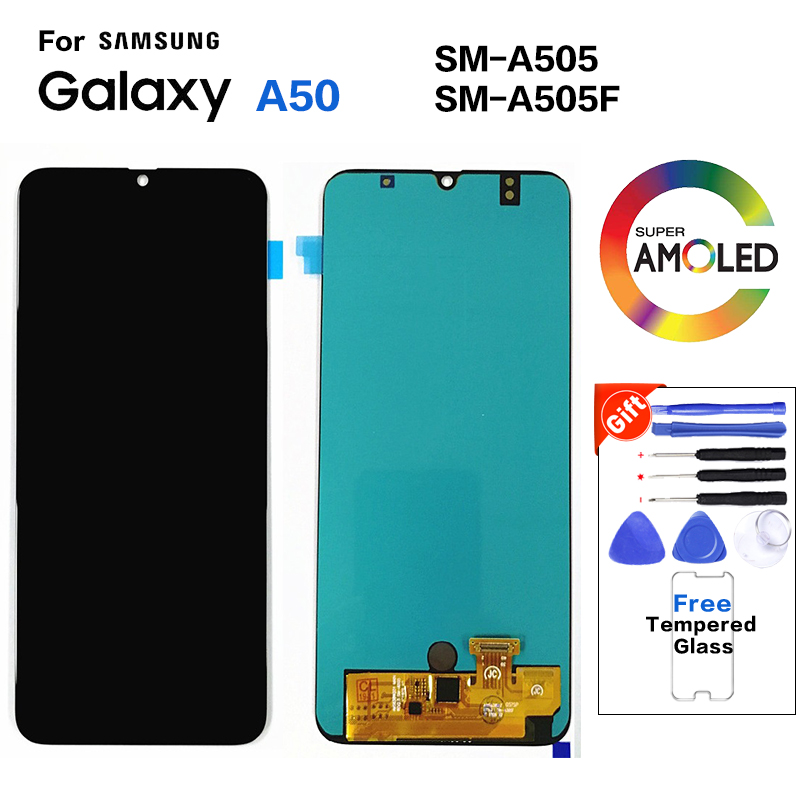 Amoled For <font><b>Samsung</b></font> Galaxy <font><b>A50</b></font> SM-A505F Display <font><b>lcd</b></font> Screen replacement for <font><b>Samsung</b></font> <font><b>A50</b></font> A505 A505G display <font><b>lcd</b></font> screen module image
