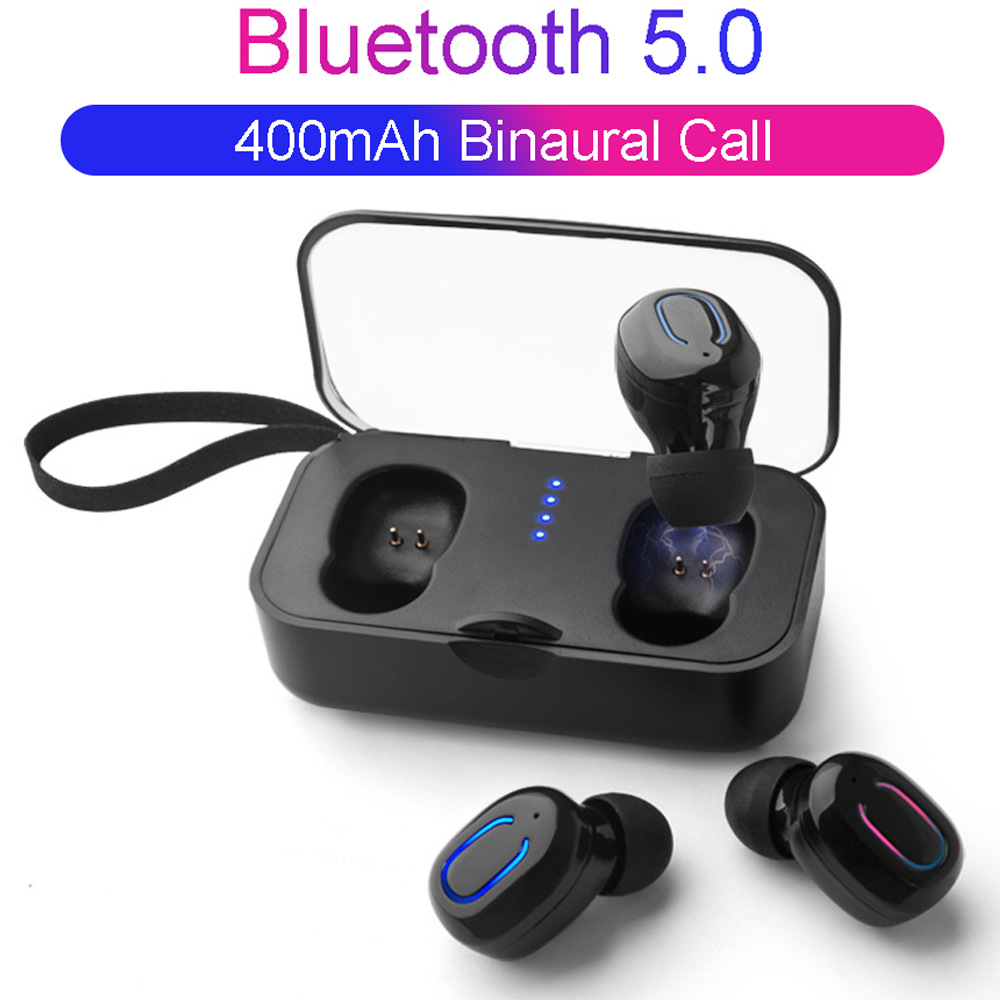 5.0 Binaural Wireless Mini Bluetooth Multi-function Earphones Waterproof Sports Compact Portable Music