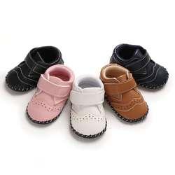 Демисезонный Новинка для новорожденных, для маленьких мальчиков обувь для девочек Повседневное Чехол Из Искусственной ПУ-удобный