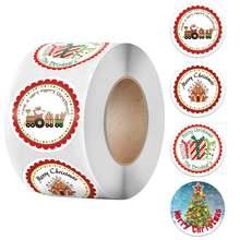 500 шт 4 вида конструкций рождественские наклейки s этикетки