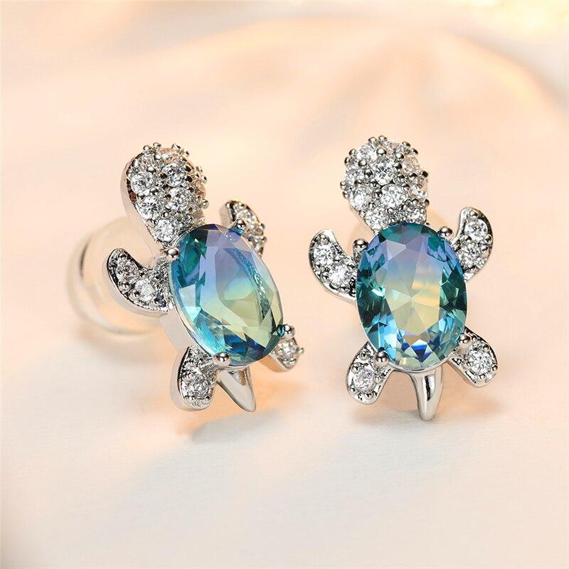 Small Turtle Earrings