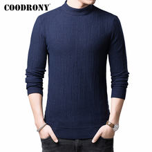 COODRONY Brand Turtleneck Sweater Men Pull Homme Autumn Winter Thick Warm Pullover Men Cotton Wool Knitwear Mens Sweaters 91116(China)