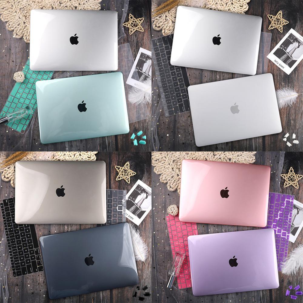 Матовый кристально прозрачный чехол для Mac book Air Pro Retina 11 12 13 15 16 Touch Bar 2019 A2141 A2159 New Air 13 A1932 2020