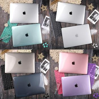 Matte Crystal Transparent Clear Case For Mac book Air Pro Retina 11 12 13 15 16 Touch Bar 2019 A2251 A2159 New Air 13 A1932 2020