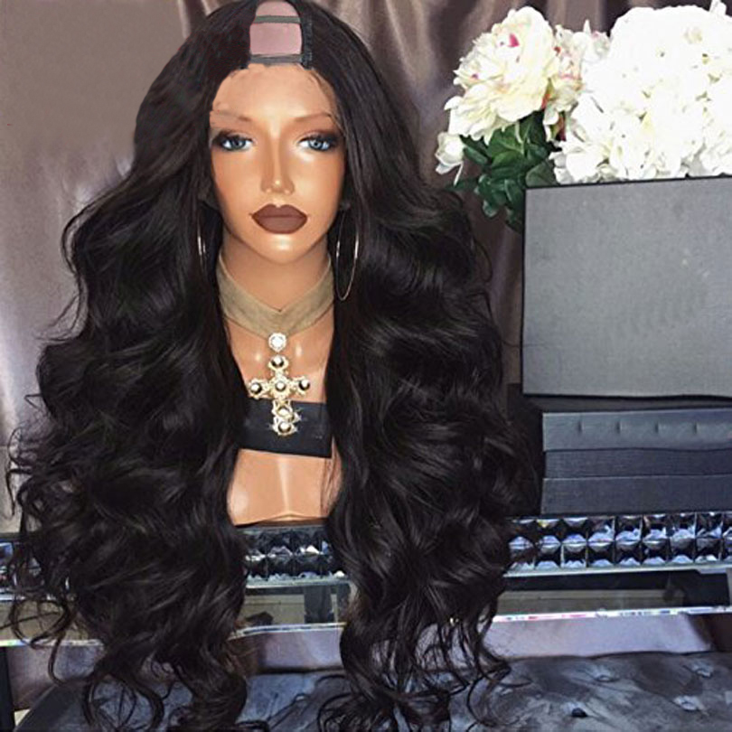 Eversilky 250% Density U Part Wigs Body Wave Middle Part 2*4 U Part Human Hair Wigs For Women Brazilian Remy Hair Natural Color