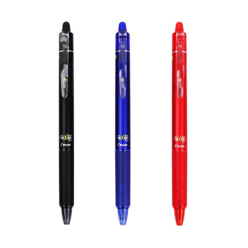 Pilot FriXion Erasable Pen Press Ball Knock Gel Pen 0.7 Mm LFBK-23F Blue/Black/Red Ballpoint Pen School Stationery 1Pcs