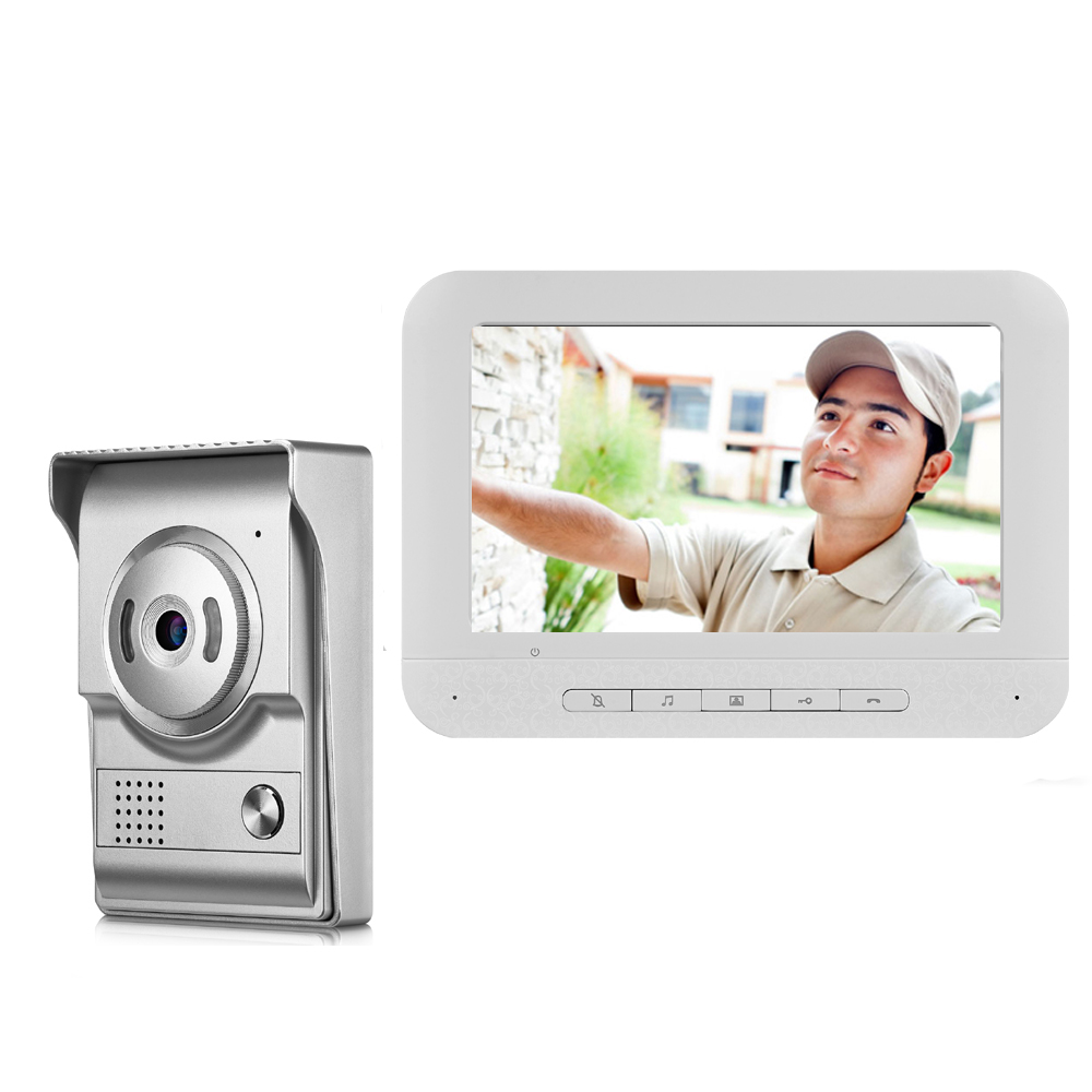 SmartYIBA 7inch TFT Video Door Phone Home Security Intercom Kit Doorbell Door Access Control HD 1000TVL Camera With Night Vision