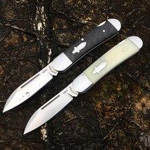 [Brother 1503] 60hrc faca de bolso moderno tradtional facas dobráveis vg10 aço pasta fibra carbono tático edc ferramenta coleção