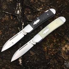 Brother cuchillo de bolsillo de acero VG10, Cuchillos plegables tradicional moderno, carpeta de fibra de carbono, colección de herramientas EDC tácticas, 60HRC, 1503