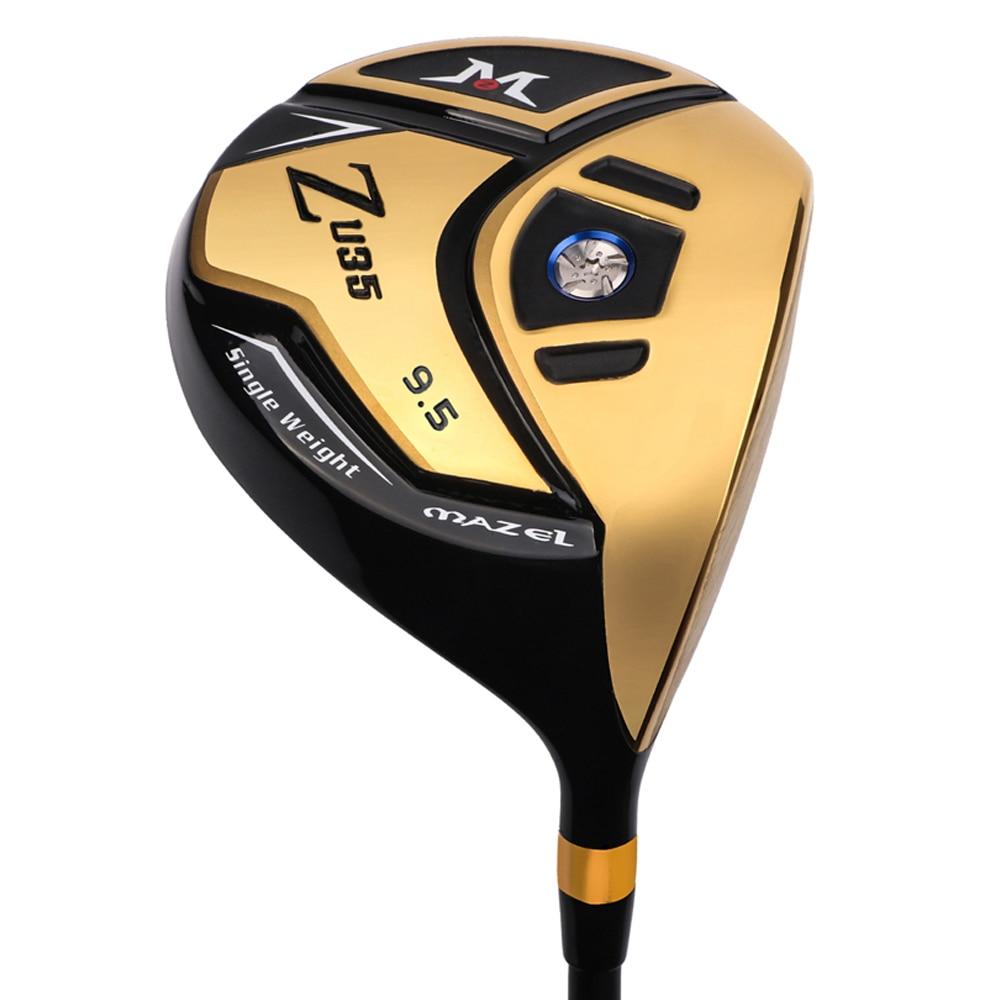 MAZEL Golf pilote titane Golf Clubs régulière Graphite arbre 9.5 degrés Flex R RH 460CC