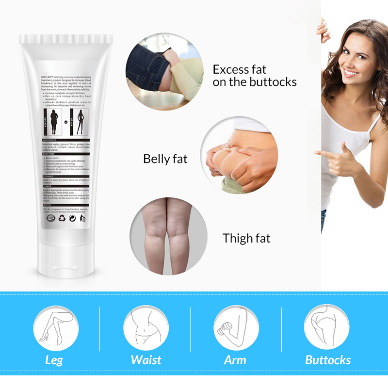 OMY LADY New Cellulite Removal Slimming Cream Women Fast Fat Burning Weight Loss Cream Gel Arm Leg burning Body Care Cream 2