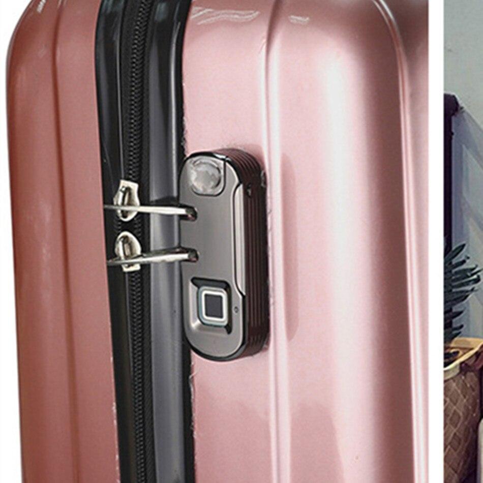 LK QX1 багажный замок отпечатка пальца высококачественный чехол на тележке встроенный кожаный мешок