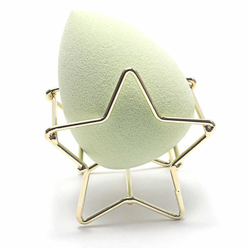 1Pc メイク美容卵パウダーパフスポンジディスプレイスタンド合金乾燥ホルダーゴールドラックパフホルダー化粧品パフスタンドオーガナイザー
