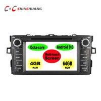 4GB RAM 64GB ROM Octa core Android 9.0 Car DVD Player for Toyota Auris Altis Corolla 2012 2013 Radio GPS Navigation WiFi DVR BT