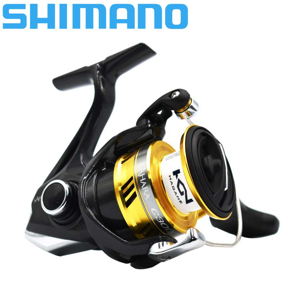 SHIMANO SAHARA FI Spinning Fishing Reel 4+1BB 1000 2500 C300 Larger Spool Capacity Max 11kg Drag X-Ship Saltewater Fishing Reels