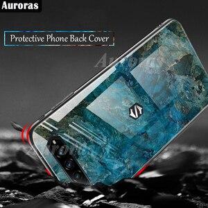 Image 5 - Auroras For BlackShark 4 Pro Case Tempered Glass Soft Silicone Frame Cover Marble Print For Black Shark 4 Cover Funda