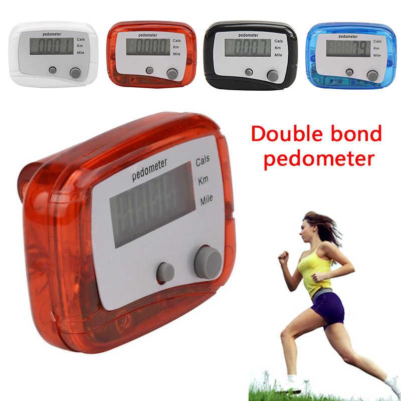 1 LCD מד צעדים הליכה קלוריות מרחק מונה ספורט ציוד כפול מפתחות ריצה אימון בריאות כלי