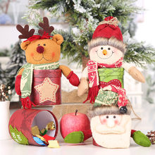 Christmas Decoration Candy Box Parties Home Supplies Holiday Seasonal Christmas Packaging Bag Party Favors Kids Gift Decor(China)