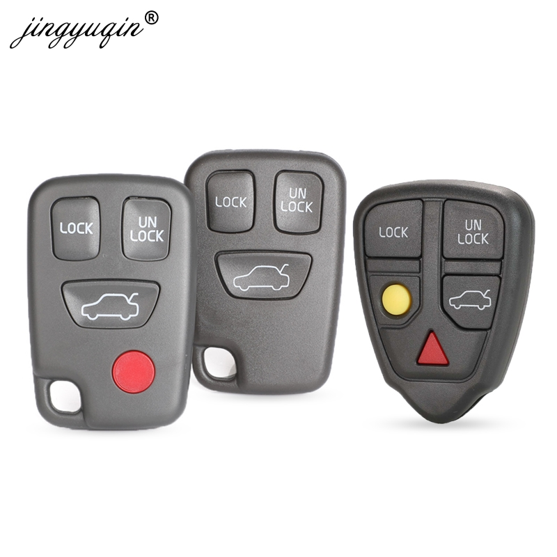 jingyuqin 3/4 Buttons Remote Fob Car <font><b>Key</b></font> Shell for <font><b>Volvo</b></font> S70 V70 C70 <font><b>S40</b></font> V40 XC90 XC70 <font><b>Replacement</b></font> Uncut Blade Car <font><b>Key</b></font> Case image