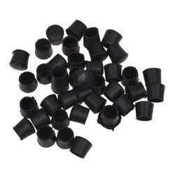 40 Pcs שחור גומי כיסא שולחן רגליים צינור צינור צינורות סוף Caps 14mm