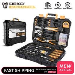 DEKO 196 sztuk profesjonalny zestaw narzędzi do naprawy samochodów Auto klucz zapadkowy śrubokręt zestaw narzędzi mechaniki W/Blow-Molding Box