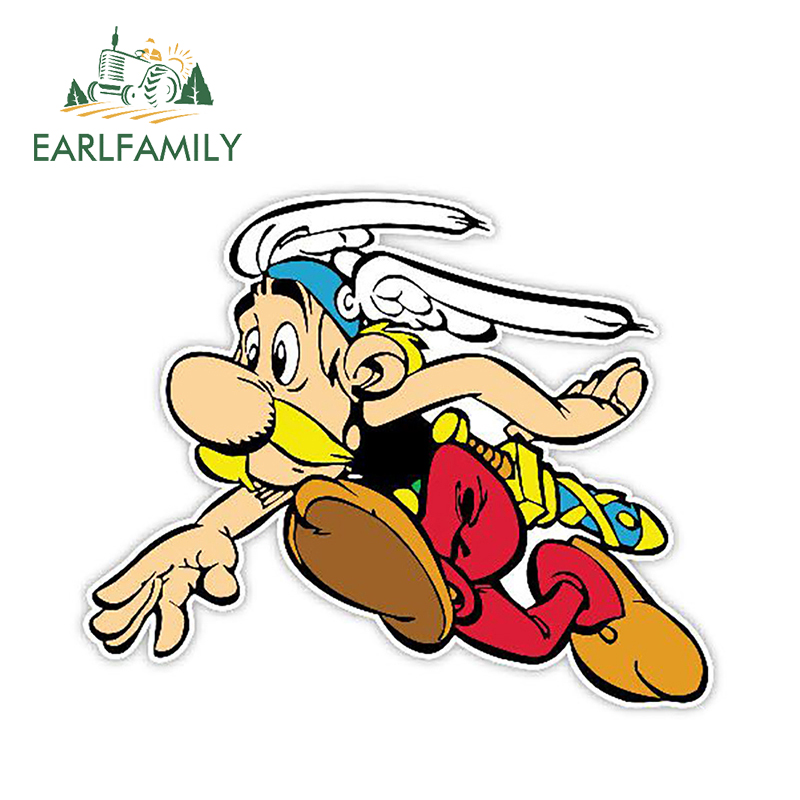 EARLFAMILY 13cm X 10.7cm Car Styling Stickers Asterix Running Car Stickers Vinyl Decal Personality Waterproof Car Styling