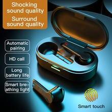 L32 tws fone de ouvido sem fio à prova dbluetágua bluetooth5.0 fones graves profundos verdadeiro reduzir o ruído com microfone esporte