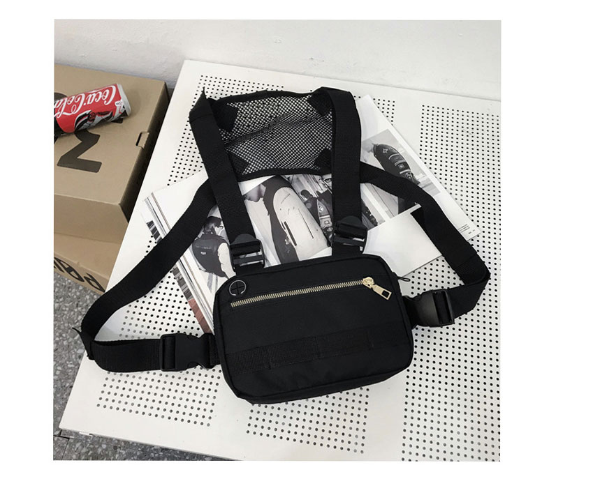 Hb4c2cfd8693845eb8f1a76829ab69071W - Vest-Style Large Space Chest Bag Retro Square Chest Bag Streetwear Shoulder Functional Backpack Tactics Funny Pack G108