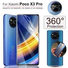 1 10 set, film hydrogel pour poco x3 pro xiaomi pocophone f3/x3pro pleine protection film arrière + souple verre trempe sur poco x3 pro protection écran