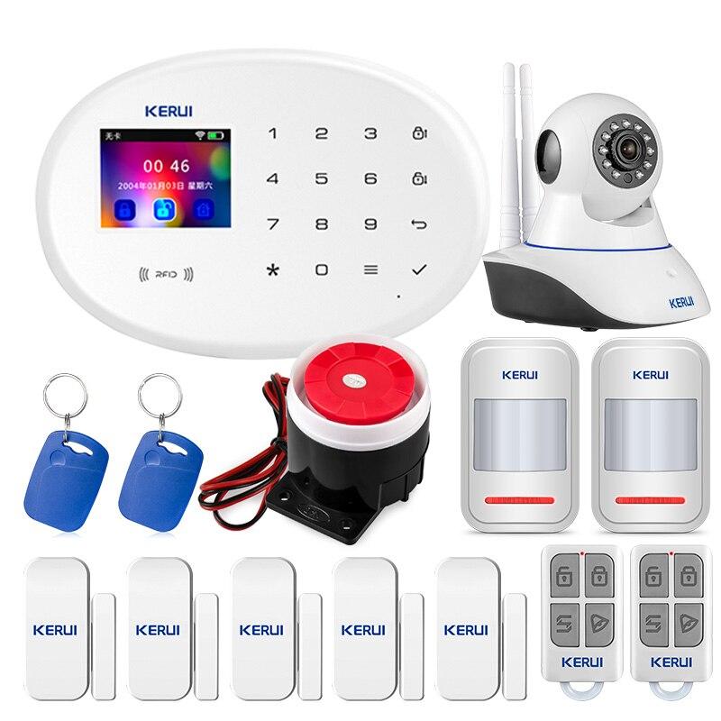 KERUI W20 IOS aplikacja na androida bezprzewodowy System alarmowy do domu kontrola aplikacji automatycznego wybierania wykrywacz ruchu czujnik System antywłamaniowy