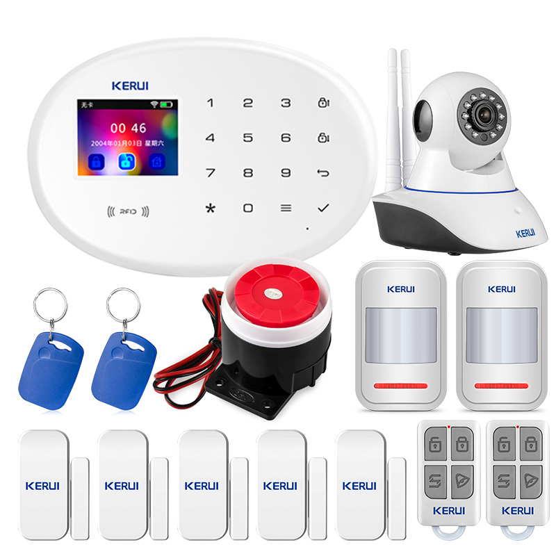 KERUI W20 IOS Android APP Wireless Home Security Alarm System APP Control Auto Dial Motion Detector Sensor Burglar Alarm System image