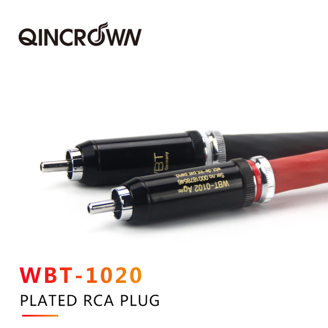 Câble audio damplificateur de puissance de tube à vide dargent pur phare câble de signal Audio hiend haut de gamme HiFi