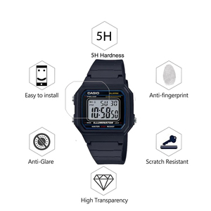 Image 2 - 3Pcs PET Nano Explosion proof Film For Casio W 217 W217 Smartwatch Screen Protector LCD Anti shock HD Clear Guard Film Not Glass