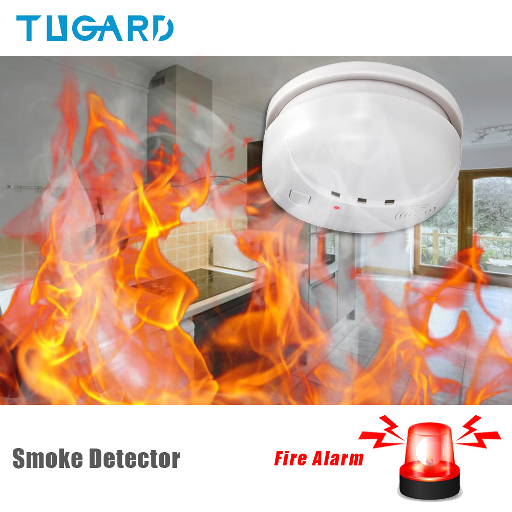 Home Security Wireless Alarm Smoke Detector For Home Security Alarm System Sensor High Quality Independent Alarm Smoke Detector