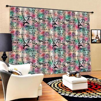wedding curtains Customized size Luxury Blackout 3D Window Curtains For Living Room romantic tower curtains