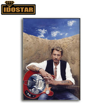New DIY diamond painting cross stitch Superstar singer johnny hallyday embroidery Full round Rhinestones crafts diamond painting(China)