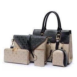 2020 Primavera Verano nuevo estilo de moda Casual diferentes tamaños bolsos de cinco piezas madre e hijo bolsa de gran capacidad conjunto de bolsa de mujer W