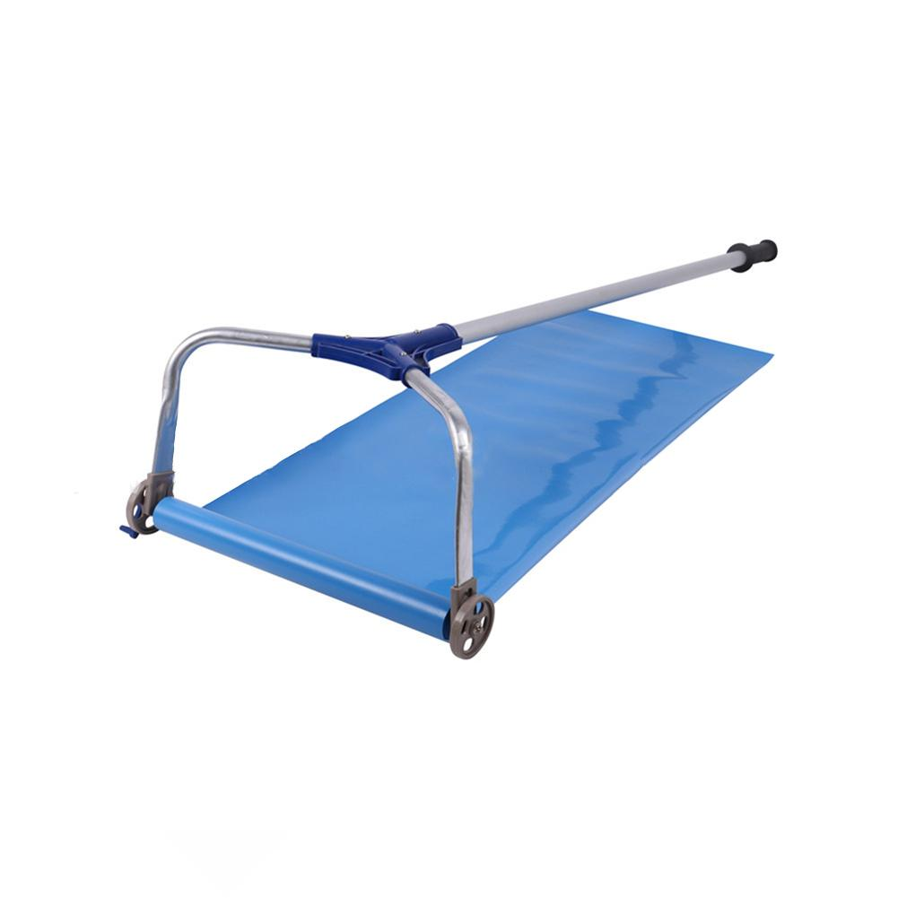 Tools : 193-640cm Roof Snow Rake -30 Degrees Telescopic Snows Removal System Cloth Adjustable Slip-proof Rod Roof Rake For Removing Snow