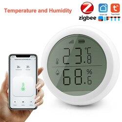 Tuya Zigbee Wireless Temperature and Humidity Detection Smart Home Remote Control Module Via Smart Life APP Work With Zigbee Hub