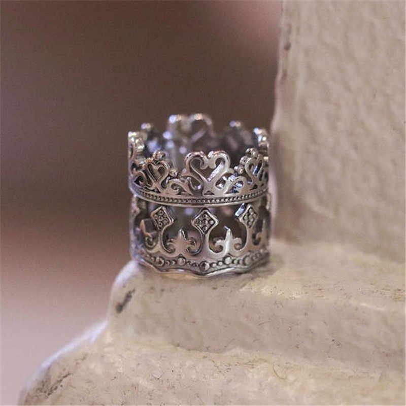 Moda Vintage pareja anillo hombres oro plata negro hombre mujeres anillos pareja anillo de compromiso Anillos De Compromiso compromiso amante para hombres Gif