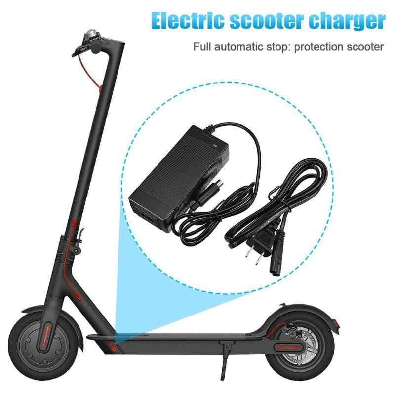 Original m365 scooter elétrico carregador 42 v 2a scooter adaptador para fonte ninebot scooter acessórios parte ue/eua plug carregador